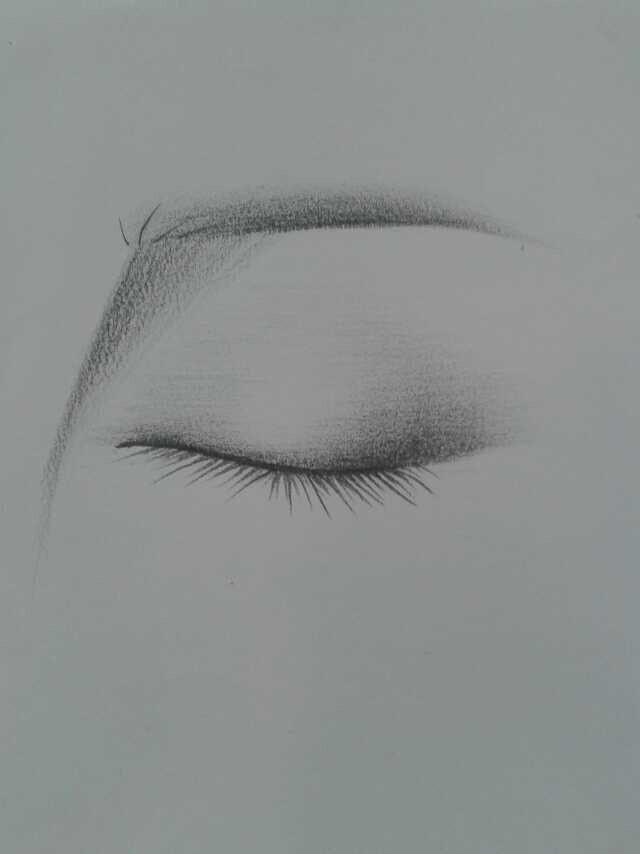 学习眼影素描打法外晕,倒钩,内晕的画法